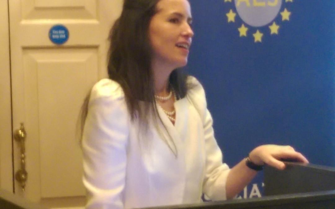 SOPHIE MAGENNIS, HEAD IRISH OFFICE UNHCR SPEAKS TO THE AEJ